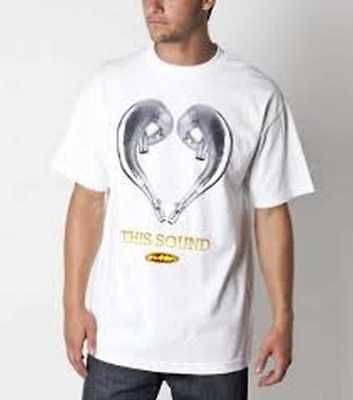New FMF Love This Sound Adult Tee/T-Shirt, White, Med/MD