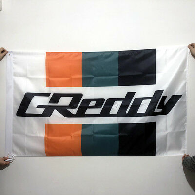 Greddy Flag Garage Man Cave Automotive Banner 5X3FT Polyester 2GrommetS/278