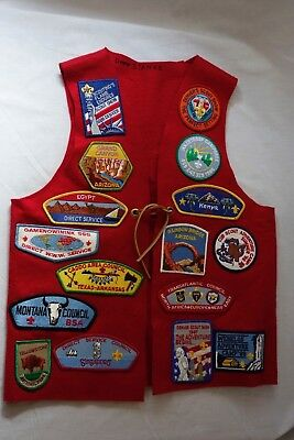 1980s Boy Scout Vest Covered in Patches