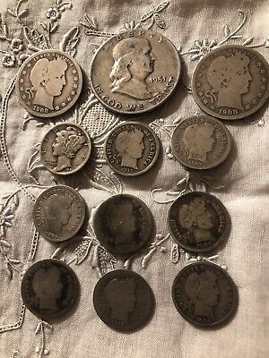 Sweet Deal,$1.90 Face Value,all 90% Silver, Good Stuff, Not Junk - Free Ship'n