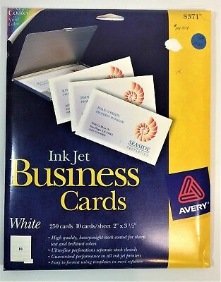 Avery Ink Jet Business Cards 250 2 x 3,5 8371