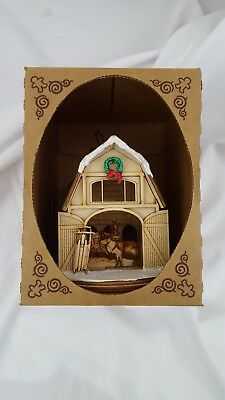 Ginger Cottages Reindeer Barn Ornament Christmas Decor GCC122