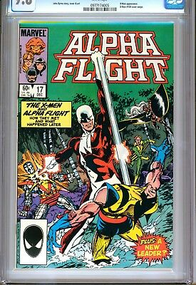 1)CGC 9.8-ALPHA FLIGHT vol.1 #17(12/84)'X-MEN #109 CVR. SWIPE'(WOLVERINE)BYRNE!!