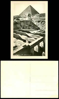 Egypt Old Real Photo Postcard Cairo The Sphinx Temple Pyramid Sphinxtemple Dunes