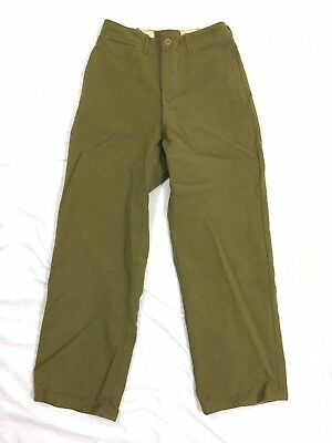 Vintage Pre WWII 1930s All Wool US MIlitary Dress Pants/Trousers - 30x30