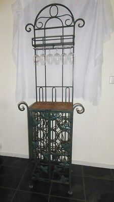 vintage wine rack, hand made wrought iron