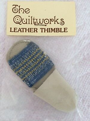 Vintage Genuine Leather Thimble for Hand Sewing Quilting Crafts made in USA