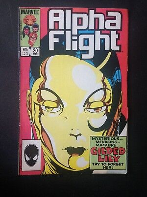 Alpha Flight #20 (1985) FN (1st new Aurora powers & uniform)