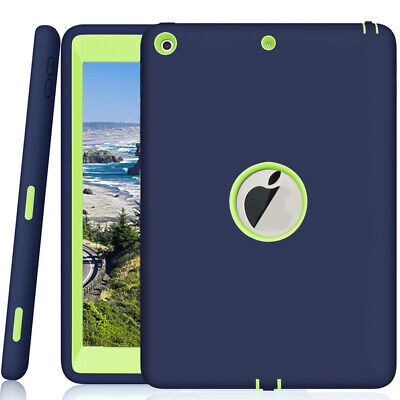 "For Apple iPad 9.7"" 7.9"" Tough Rubber Heavy Duty Kids Shockproof Hard Case Cover"