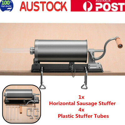 Stainless Steel Meat Sausage Filler Stuffer Salami Maker Horizontal Commercial
