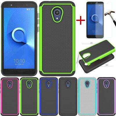 For Alcatel TCL LX/Ideal XTRA/1XEvolve Shockproof Rugged Rubber Hard Case Cover