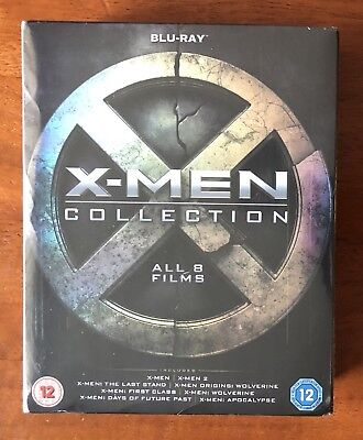 X-Men Collection - All 8 Films Box Set (Blu-ray discs, 2016) SEALED