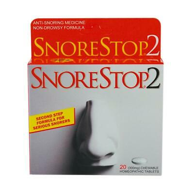 SnoreStop2 Tablets - Relief from snoring - Gentle anti-snoring medication