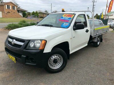 2008 Holden Colorado RC DX White Manual M Cab Chassis