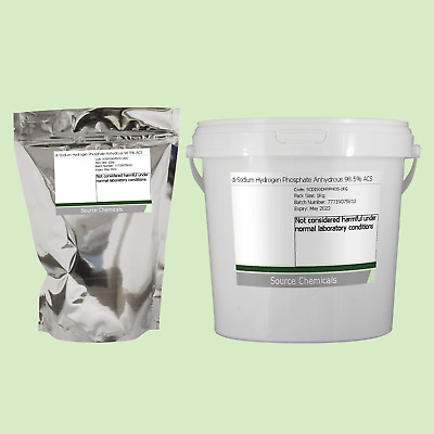 Di-Sodium Hydrogène Phosphate Anhydre 98.5% Acs Grade Alimentaire 100 G To 1kg