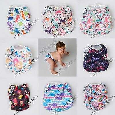 Reusable Swim Nappy Cover Pant Baby Newborn Infant Toddler Boy Girl AU FAST POST
