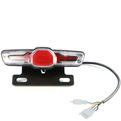 5pcs LED Bicycle Bike Cycling Rear Tail Light Indicator Brake Lamp 36V/48V/60V