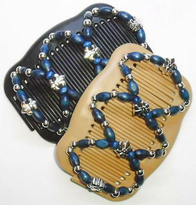 """Angel Wings Hair Clips 4x3.5/"""" African Butterfly Style Magic Combs,Quality MS37"""