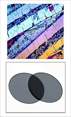 V00. 32 mm Linear Polarizing Filters Microscope Optical Devices  - 2 Pcs.