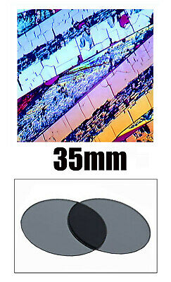 V00. Two 35 mm Linear Polarizing Filters Microscope Optical Devices