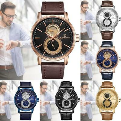 NAVIFORCE Luxury 3ATM Date Water Resistant Stainless Steel Men's Army Watches