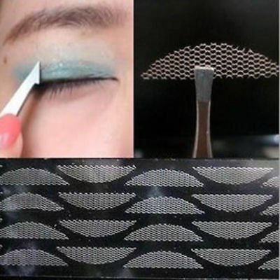 240Pcs Lace Double Eyelid Tape Women Mesh Invisible Narrow Wide Makeup Tool Gift