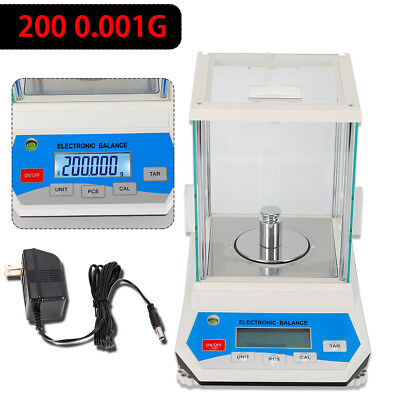 200 x 0.001 g 1 mg Lab Analytical Balance Digital High Precision Scale US SHIP