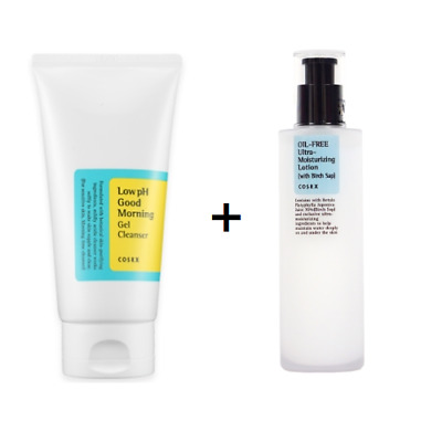 [COSRX] Low pH Good Morning Gel Cleanser + Oil-Free Ultra-Moisturizing Lotion