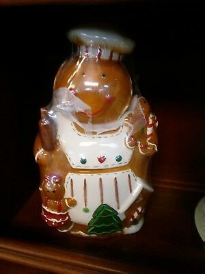 Ginger Bread Person Cookie Jar - New - Still in Original Wrapping