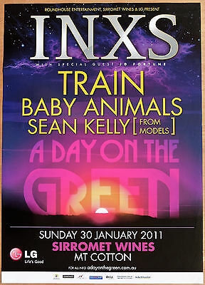 DAY ON GREEN 2011 INXS TRAIN BABY ANIMALS SEAN KELLY A2 Music Concert Poster