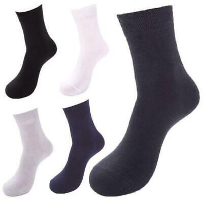 10X Pairs Men Mens Socks Black Bamboo Fibre Odor Resistant Healthy Natural