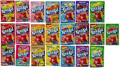 5 x Mix'n'Match US Kool-Aid Unsweetened Drink Mix (Choose your Flavours)