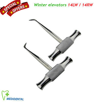 Set of 2 rootlifts angled Winter 14LW / 14RW Elevators Luxation instruments New