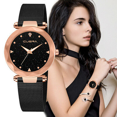 Women CUENA Stainless Steel Classic Hot Luxury Analog Quartz Analog Wrist Watch