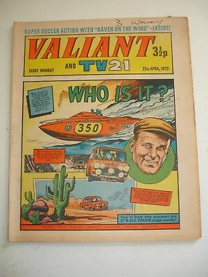 VALIANT And TV 21 comic 22nd April 1972