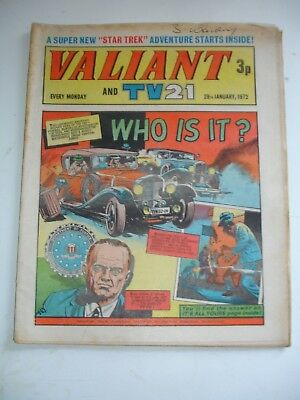 VALIANT And TV 21 comic 29th January 1972