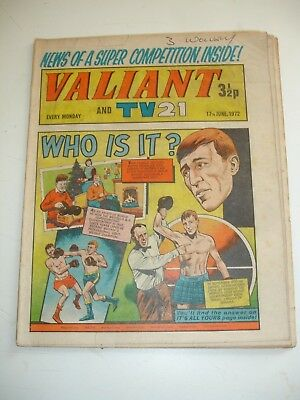VALIANT And TV 21 comic 17th June 1972..