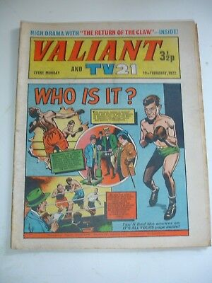 VALIANT And TV 21 comic 19th February 1972