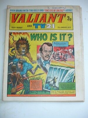 VALIANT And TV 21 comic 22nd January 1972