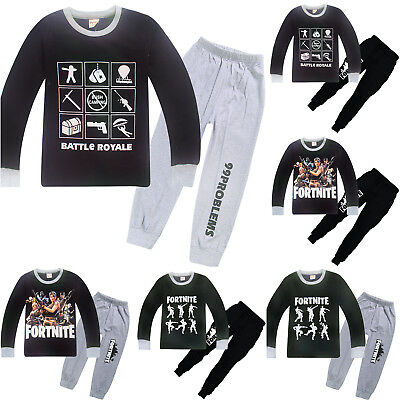 Fortnite Kids Boys Girls Long Sleeve Tops T Shirt Pants Tracksuit Pyjamas Outfit