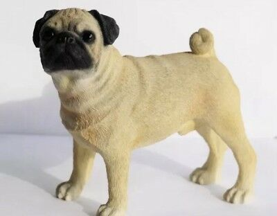 Pug figure ornament Dog collectable gift present Figurine SUPER SALE