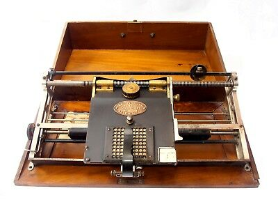 Antigua Maquina de escribir THE HALL SALEM rare TYPEWRITER Macchina da Scrivere