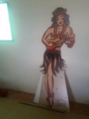 SAILOR JERRY RUM almost 6ft tall standee - tattoo girl -FREE POST AUS WIDE