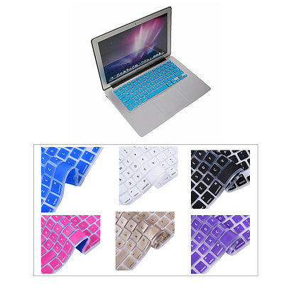 "Solid color Silicone Keyboard Skin Cover Film For Apple Macbook Pro 13"" inch  US"