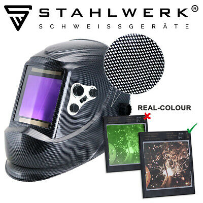 Welding Helmet STAHLWERK ST-950XW White Christmas set 8-pieces