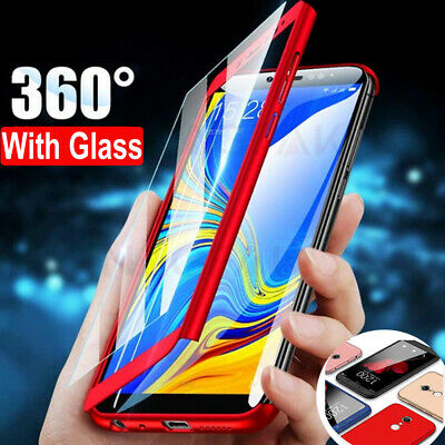 360° Full Cover Case + Tempered Glass for Samsung Galaxy J3 J5 J7 Pro A3 A5 2017