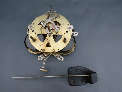 Vintage Saujin wall clock movement & chimes for repair or parts