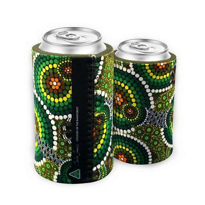 Indigenous Can Cooler - Dot Green