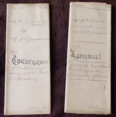 2 Indentures Related to People and Property in Reading, Berkshire, 1893