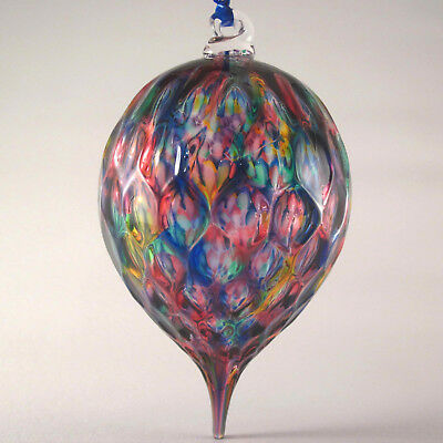 HAND BLOWN Glass Ornament Made by Tazza Glass in Ohio